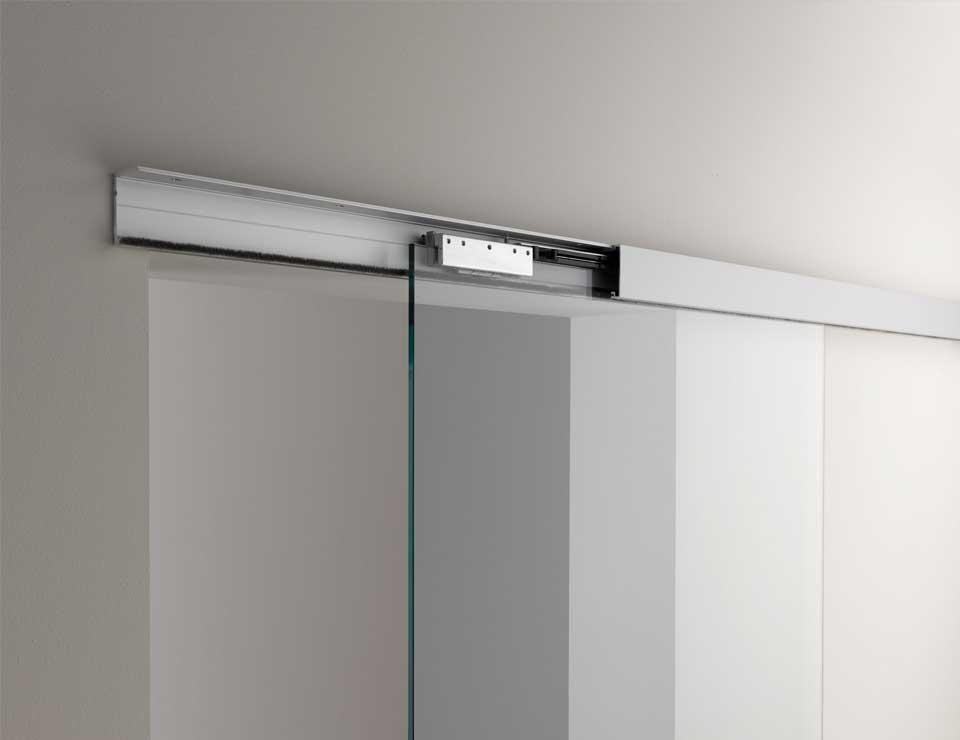 Glass Door Sliding System for office